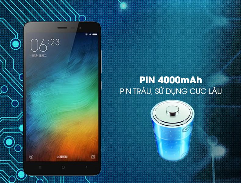 Kết quả hình ảnh cho thời lượng sử dụng pin Xiaomi Redmi note 3 pro