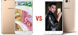 """Lần đầu tiên đặt lên bàn cân: """"siêu phẩm"""" Oppo F1s và """"chiến binh"""" Samsung Galaxy J7 Prime"""