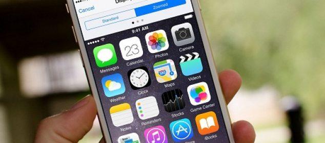 display zoom tren man hinh iphone 6, 6plus