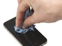 Bệnh Viện Điện Thoại 24h hướng dẫn người các thao tác vệ sinh màn hình iPhone 5,5S đơn giản