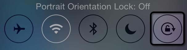 Muốn tắt đi chế độ xoay màn hình iPhone 5 bạn chỉ cần nhấn vào đó chú ý dòng trên đó ghi là ON hay OFF là xong.