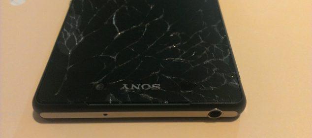 """Màn hình Sony Z3 """"vô tình"""" bị vỡ."""