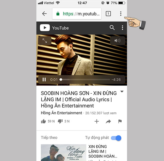 Meo Huong Dan Nge Nhac Tren Youtube Trong Khi Van Tat Man Hinh Iphone 03