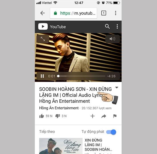 Meo Huong Dan Nge Nhac Tren Youtube Trong Khi Van Tat Man Hinh Iphone 04