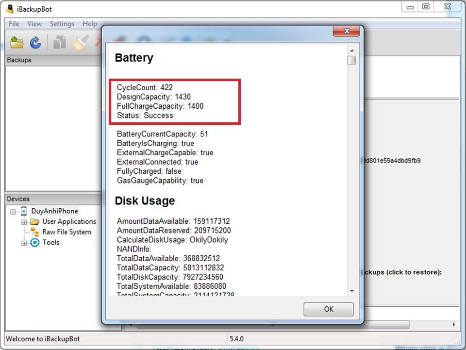 kiểm tra độ chai pin của iPhone hình 3