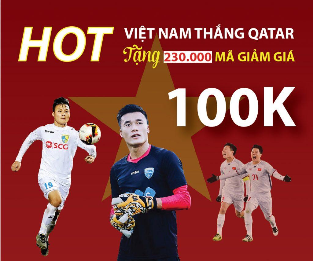 Mung U23 Viet Nam Chien Thang Tang Voucher 100 000 D Cho Nguoi Mua Hang Than Thiet 01
