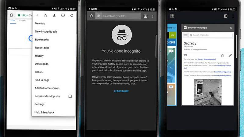 Cách bật và tắt chế độ ẩn danh trên Android khi duyệt Web riêng tư hình 2