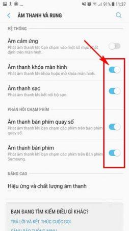 Lam Sao De Tat Am Thanh Cam Ung Tren May Samsung Galaxy Note 8 08