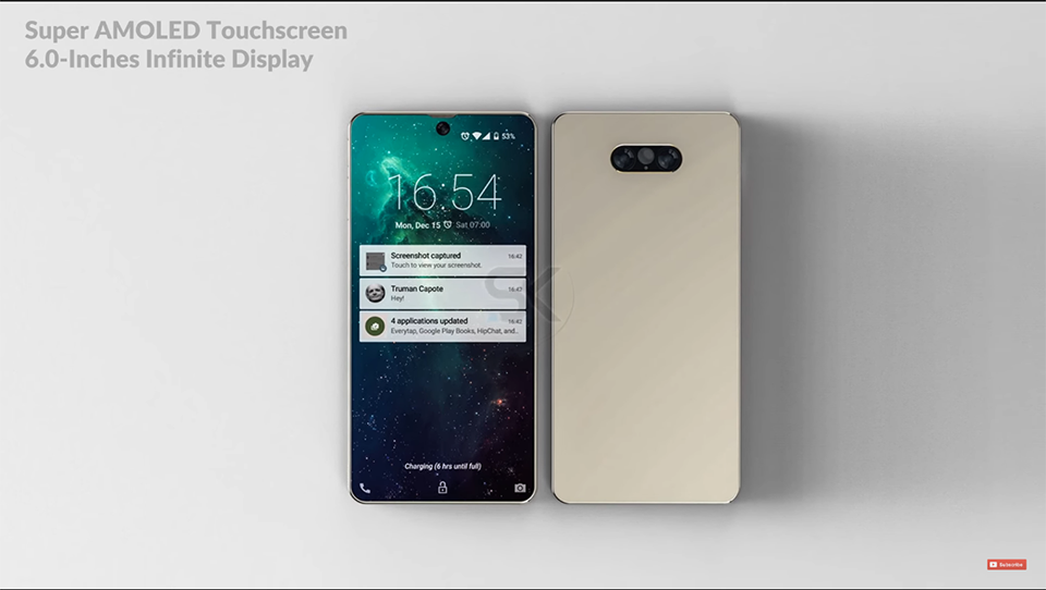 Lộ Diện Samsung Galaxy Zero,đối Thủ đáng Gườm Của IPhone X 2