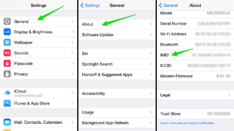 Hướng dẫn cách check imei iphone siêu dễ