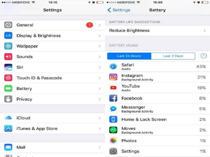 Cách tiết kiệm pin iPhone XS Max bằng kiểm tra lượng tiêu thụ pin