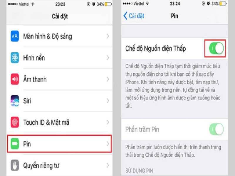 Thực hiện bật tính năng sử dụng nguồn điện thấp cho Iphone XS Max