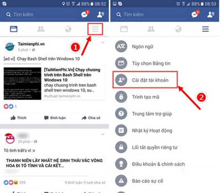 Cach Xoa Tai Khoan Facebook Tren Dien Thoai Android Iphone Va Windows Phone 01